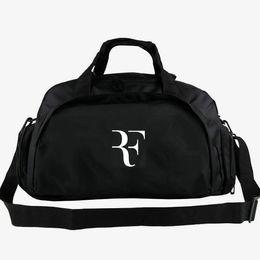 Boy star logo online shopping - Roger Federer duffel bag Tennis star tote F logo fans backpack Exercise luggage Sport shoulder duffle Outdoor sling pack