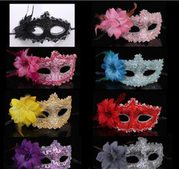 Masks Faces Australia - Masquerade man and women half face mask halloween party mask sexy venetian masks 8 color can choose