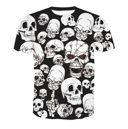 solid color tees UK - Wholesale Free Shipping New Fashion Women Men Cat Skull 3D Digital Printed Casual Streetwear Tshirt Tee Tops 6XL