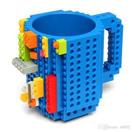 Kids Blocks Wholesale Australia - Building Blocks Mugs DIY Block Puzzle Type Coffee Cup Novelty Tumbler Decompression Toys For Adults Kids Minifigures Designer 14 5rh ZZ