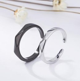 7aa7f6c96f Simple Silver couple ring online shopping - luxury jewelry S925 sterling  silver designer rings for couple