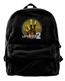 China Left 4 Dead 2 Icon Canvas Shoulder Backpack New Backpack For Men & Women Teens College Travel Daypack Black cheap icon backpack suppliers