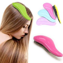 $enCountryForm.capitalKeyWord NZ - Magic Anti-static Hair Brush Handle Tangle Detangling Comb Shower Electroplate Massage Comb Salon Hair Styling Tool