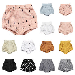 solid infant bloomers UK - 2018 Hot Infant Clothing Newborn Shorts Children Kids Clothes Baby Girls Boys Clothes Toddler Bloomers Bottoms Summer Trousers PP Pants 0-5T
