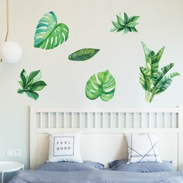 Wholesale Copper Kitchen Australia - Wholesale Green Plant Wall Stickers Wallpaper Wall Picture Art Vintage Room Home Decor Kitchen Accessories Household Craft Suppllies