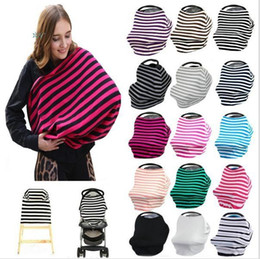 scarf shops Canada - Baby Car Seat Cover Canopy Nursing Cover Multi-Use Stretchy Infinity Scarf Breastfeeding Shopping Cart Cover c118