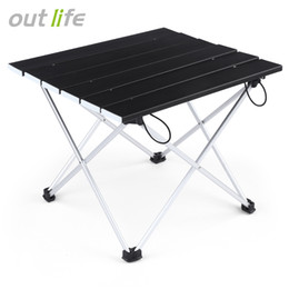 aluminum travel 2019 - Outlife Ultralight Lightweight Mini Aluminum Alloy Folding Table Mesa Plegable for Hiking Camoing Picnic Outdoor Enterta