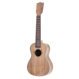 China 23in Concert Ukelele Ukulele Hawaii Guitar DIY Kit Zebra Wood Body & Rosewood Fingerboard suppliers