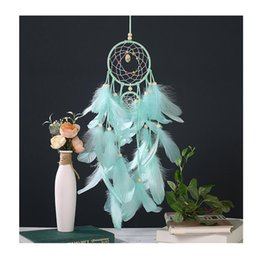 Manual Arts Crafts Pink Feather Net Originality Home Decoration Hanging Bedside Pendant Friend Happy Birthday Gift 11 5xm Bb