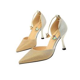 PurPle glitter stilettos online shopping - Stiletto High Heels Gold grey Pointed toe Wedding Shoes Birde Rhinestones pump Shoes Summer Sandals ladies