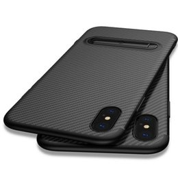 samsung galaxy slim mobile UK - TOTU Slim Cover for Iphone xs case Carbon Fiber mobile case Soft TPU For Galaxy S9 S9+ phone case