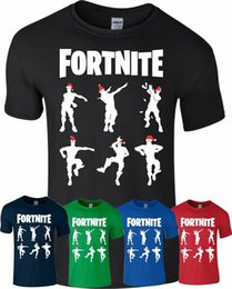 76748452a1 Fortnite T Shirt Gamer Celebration Dance Christmas Gift Top PS4 Mens Kids  Boys Funny free shipping Unisex Casual tee gift