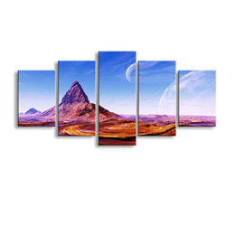 Art Canvas Prints Australia - 5 pieces high-definition print Landscape canvas oil painting poster and wall art living room picture PL5-230