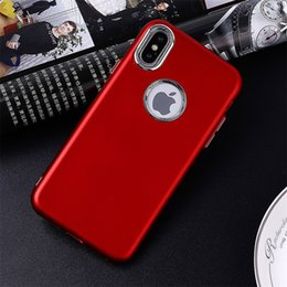 $enCountryForm.capitalKeyWord NZ - hot sale cell phone case ultra thin back cover multi-layer paint metallic flexible soft tpu case for iphone X