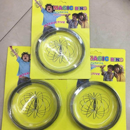 Pack Supplies Australia - New Arrival Flowing Ring Magic Bracelet Toys Moving Funny Decompression Toys Party Favor With Blister Pack HH7-445