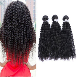 Cheap Kinky Natural Hair Extensions Australia - Brazilian Curly Virgin Hair 3 Bundles Cheap Brazilian Kinky Curly Hair Weaves Natural Black Brazilian Curly Human Hair Extensions On Sale