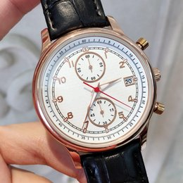 China All Subdials Work Fashion Man Watches With Date Luxury Dress Watch Classic Quartz Watch Sport Black Brown Leather Wristwatches for male cheap luxury sport watches for men suppliers