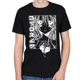 $enCountryForm.capitalKeyWord NZ - T-shirt Men Brand Clothing Top Quality Fashion Mens Broken Heart Girl Anime Manga Japanese Cartoon Kawaii Hipster