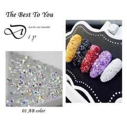 $enCountryForm.capitalKeyWord Canada - Wholesale 1440Pcs Tiny Mini Nails Rhinestone Micro Diamond 3D Nail Art Glitter Rhinestones Decorations Crystal Pixie Accessories