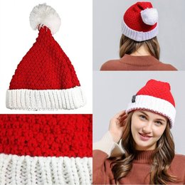 $enCountryForm.capitalKeyWord UK - Beanies Winter Hat Merry Christmas Party Adults Women Santa Claus Xmas Christmas Hats Soft Knitted Wool Christmas Hats Cap