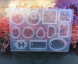 12 силиконовые смолы формы кулон ювелирные изделия плесень ремесло ручной работы DIY круглые кабошоны смолы серьги кулон ожерелье изготовление ювелирных изделий формы