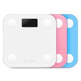 YUNMAI Mini Smart Body Fat Electronic LCD Escala de peso digital con la aplicación Smart Weighing Scale Digital Body Fat BMI Scale Android y IOS en venta