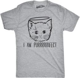 Kitten Shirts Australia - Mens I Am Purrrrfect Funny Adorble Halo Angel Kitten Crazy Cat Person T shirt