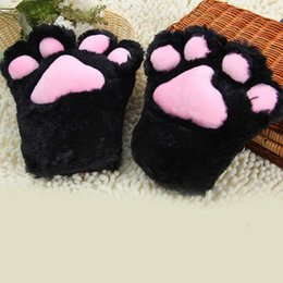Paw Glove Cosplay NZ - Women Lady Cartoon Plush Cat Paws Gloves Maid Anime Dress Up Props Cosplay Costume Accessories Party Supplies