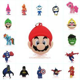 Trolls necklaces online shopping - Avenger Superhero Trolls Mario Pendant Cartoon Soft PVC Pendant Fit for Keychain Necklace Fashion Accessory Party Favors