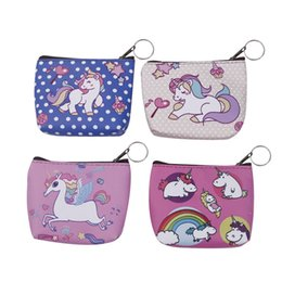 Hot Sale 1pc Fashion Cartoon Cute Unicorn Womens Coin Purse Key Pack Keychain Birthday Party Decorations Kids Baby Shower Gifts Luggage & Bags
