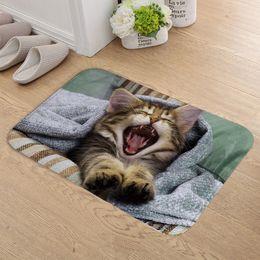 dark chocolate dogs 2019 - FOKUSENT Indoor Door Mat Flannel Soft Pets Cat and Dog Floor Mats Foot Pad Toilet Tapete Rugs for Living Room discount d