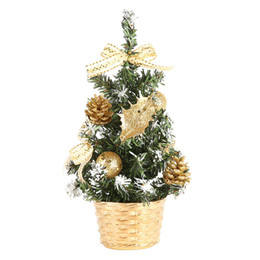 1 pcs mini christmas trees xmas decorations a small pine tree placed in the desktop festival home party ornaments