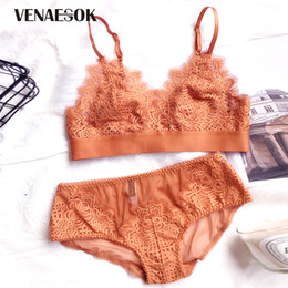 0621fb6456 2018 New Europe Embroidery Bra Panties Sets Women Lingerie Lace Brassiere  Black See Through Bras Sexy Underwear Set Transparent