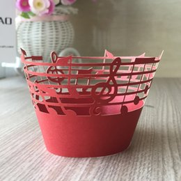 $enCountryForm.capitalKeyWord NZ - 100PCS Lot Music theme Laser Cut Pearl Cupcake Wrapper Liner Baking Cup For Home Wedding   Birthday   Christmas Party Decoration