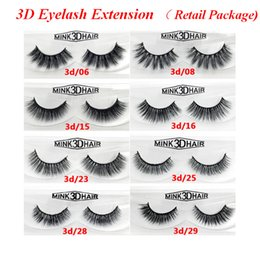 False Eyelashes Retail Package Australia - 3D Eyelash Extension 12 stylesstyles 100% Real Siberian 3D Strip False Eyelash Long Individual Eyelashes Portable Retail Package Bea059