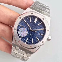 Roses butteRflies online shopping - Luxury JF Factory V3 Mens Automatic Cal Watch Men Rose Gold Bracelet Blue Dial Royal Sapphire Crystal Butterfly Buckl