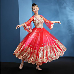 60c77153e0 Women Performance belly dance clothes India belly dance costume girls red dance  clothing Adult Fashion Indian style stage wear