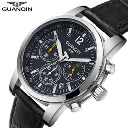 3503b00cf734 2018 Relogio Masculino GUANQIN reloj hombres oro deporte hombres relojes de  primeras marcas de lujo Cronógrafo Cuarzo reloj de pulsera a prueba de agua