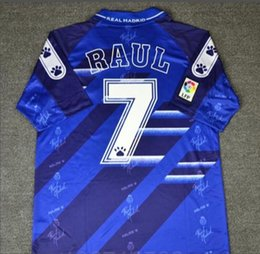 BEST quality 94 95 96 Retro Soccer Jersey Real Madrid  7 Raul  9 Zamorano   6 Redondo Football Shirts Vintage Calcio MAGLIA e6123d657