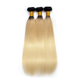 $enCountryForm.capitalKeyWord UK - ELIBESS HAR-Russian Blonde Human Hair 3 Bundles Color 1b 613 Hair Extensions 100g bundleRemy Straight Brazilian Hair