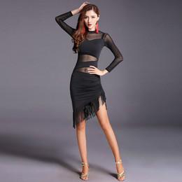 649fb13a6 2018 Novos Trajes de Dança Latina Feminino Adulto Salão de baile de Dança  das Mulheres Vestido Latin Competição Salsa / Tango / Cha Cha Rumba Vestido  Latina