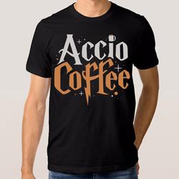 $enCountryForm.capitalKeyWord Australia - Accio Coffee Harry Potter Wizard Funny T-shirt Men's Women's 100% Cotton Tee