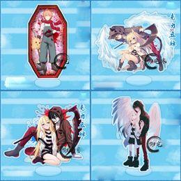 Angels Figures Australia - Anime Satsuriku no Tenshi Angels of Death Zack Ray Acrylic Stand Figure Gift Toy Halloween Cosplay Cartoon Stand Figure
