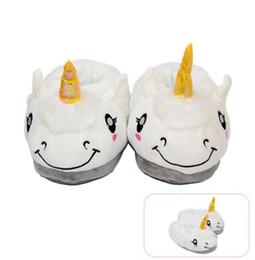 Discount warm slipper shoes - Plush Unicorn Slippers Non Slip Keep Warm Cute Animal Sheep Slipper Cartoon Indoor Floor home Shoes Christmas Gift GGA12