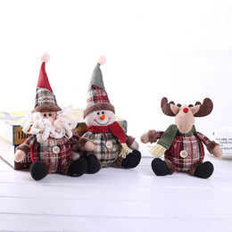 Wholesale Christmas Gift Standing Figurine Toy Snowman Ornament Festival Party Xmas Home Indoor Table Ornament Decorations