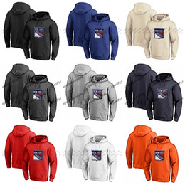New york raNgers hoodies online shopping - Custom New York Rangers Hoodie Jerseys Pullover Hoodie Any Name Number Blank Stitched Hockey Hooded Sweatshirt