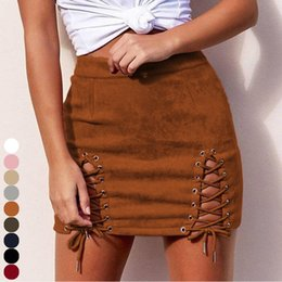 ad2e3dc0fa0f9 Black faux leather pencil skirt online shopping - Women s High Waist Faux  Suede Mini Skirt