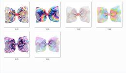 $enCountryForm.capitalKeyWord NZ - 12pcs 8'' Large Handmade Boutique Geometric Design Stripe Print Colored Bow Alligator clips Hairpins Kids Hair Accessories HD831