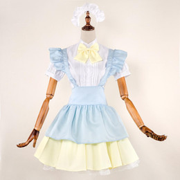 $enCountryForm.capitalKeyWord NZ - Japan Girl Anime Maid Lolita Dress High School Student Uniform French Wench Outfit Coffee Maid Cosplay Fancy Dress