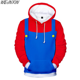 Chinese  WEJNXIN Super Mario Hot Game Clothing 3D Design Hood Hoodies Men Women Unisex Sweatshirts Hoody Pullover Boys Tracksuits Outwear manufacturers